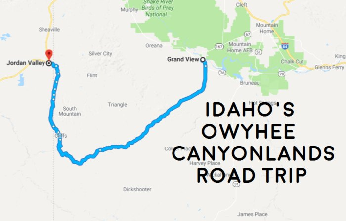 See The Very Best Of Idaho's Owyhee Canyonlands In One Day ... Canyonlands Map on valley of the gods map, gates of the arctic map, capitol reef map, sunset map, cisco map, mesa verde map, big thicket map, manti la sal map, monument valley map, greenwich map, horseshoe canyon map, moab map, white rim map, arcadia map, utah map, dixie national forest map, shenandoah map, laketown map, kobuk valley map, mesa arch map,