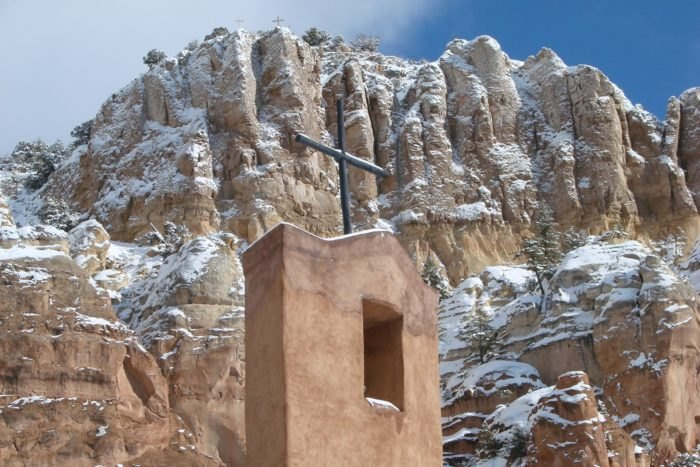 Image result for christ in the desert new mexico in the snow