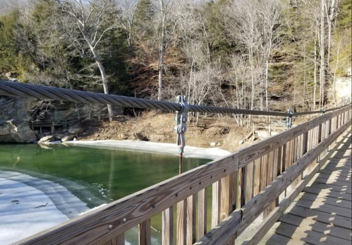 The Suspended Bridge at Turkey Run State Park In Indiana