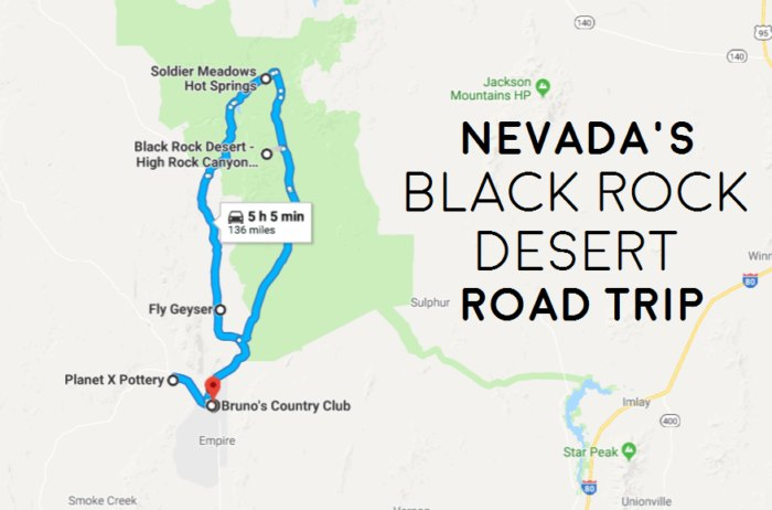 The Best Black Rock Desert Road Trip In Nevada That Takes ... Google Map Of Nevada on satellite view of nevada, regional map of nevada, satellite map of nevada, topo map of nevada, encyclopedia map of nevada,