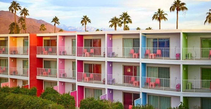 You'll Never Forget A Stay At This Rainbow-Themed Hotel In America