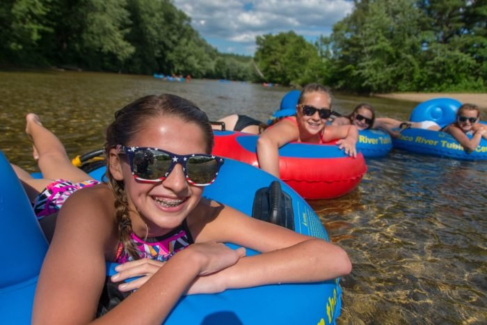 A Float Trip Down The Saco River Is The Perfect Tubing In