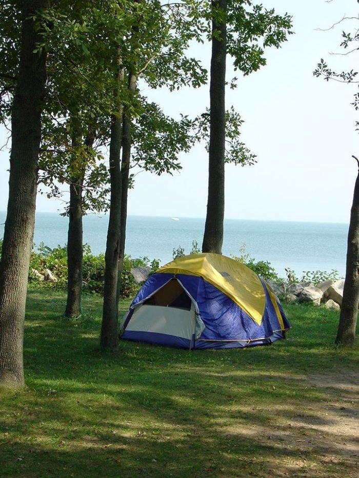 Best Lakefront Camping Spot In Ohio: Kelleys Island State Park on kelley's island state park campsite map, kelleys island ohio, south bass island state park campground map, kelleys island yurt, kelleys island art,