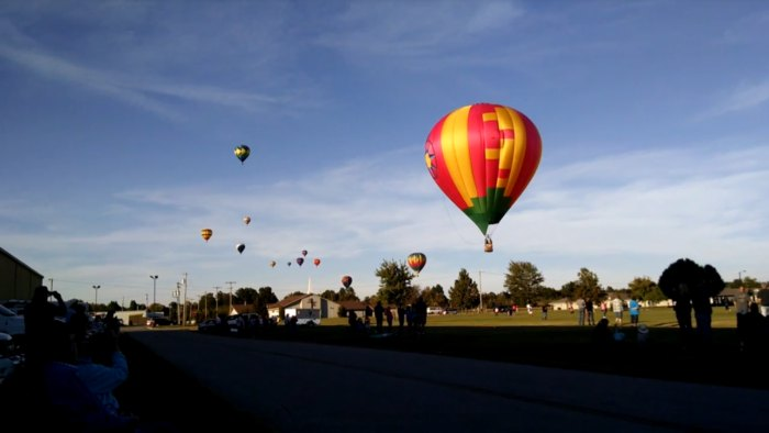 Balloon Festival In Small Town Kansas