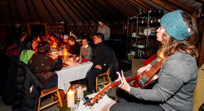A Meal At The Montana Dinner Yurt Is Everything You Never