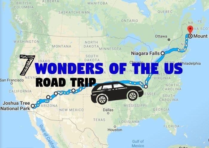 Map Of Georgia 7 Wonders.See The 7 Wonders Of The Us On This Scenic Road Trip