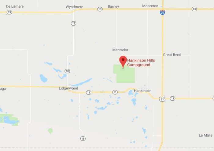 Best Secluded Campground In North Dakota Hidden In The Sandy ... on map of north georgia campgrounds, map of north dakota casinos, map of north dakota airports,