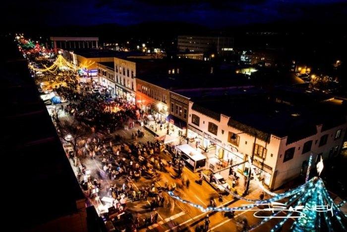 At Christmastime, Bozeman, Montana Has