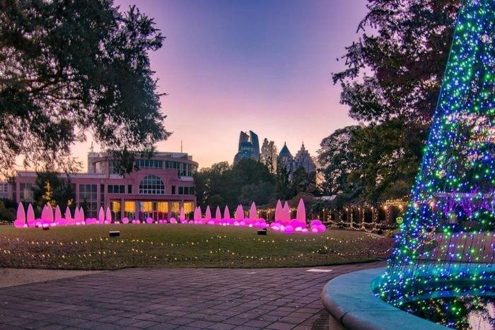 Atlanta Botanical Gardens In Georgia Offers A Unique Holiday