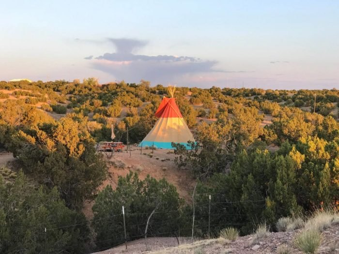 Santa Fe Tipi Experience Is Best Heated Tipi Stay In New Mexico