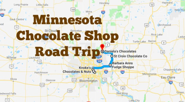 This Minnesota Road Trip Takes You To 6 Old Chocolate ... on satellite view of minnesota, satellite map of minnesota, google maps mississippi river, products of minnesota, information of minnesota, city of minnesota, resources of minnesota, printable map of minnesota, interactive map of minnesota, driving map of minnesota, map of north central minnesota, weather of minnesota, google maps bemidji, simple map of minnesota, topographic map of minnesota, google maps street view, mapquest of minnesota,