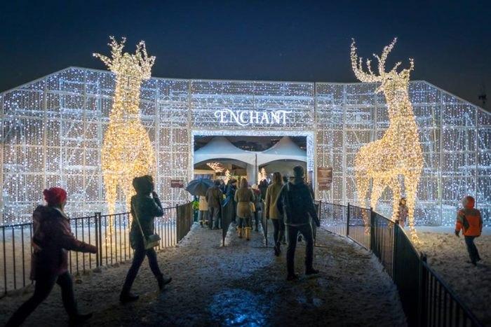Enchant Christmas.Ice Skating Light Trail At Enchant Christmas In Texas