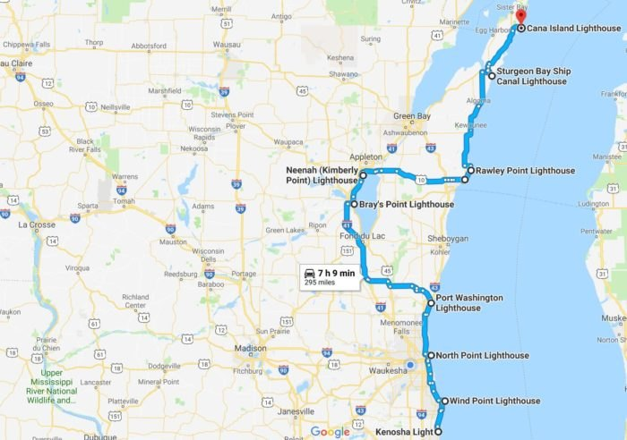 This Road Trip Takes You To 10 Different Wisconsin Lighthouses Kenosha Wi Road Map on eagle river wi map, sheldon wi map, green wi map, naperville wi map, crystal lake wi map, outagamie wi map, fond du lac county wi map, fairfield wi map, kenosha wisconsin, kenosha hotels, howards grove wi map, dayton wi map, vilas wi map, copper harbor wi map, plover wi map, pensaukee wi map, trenton wi map, wauwatosa wi map, menominee county wi map, battle creek wi map,