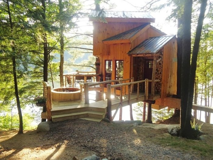 Admirable A Stay At The Vermont Tree Cabin On Walker Pond Is Unforgettable Download Free Architecture Designs Scobabritishbridgeorg