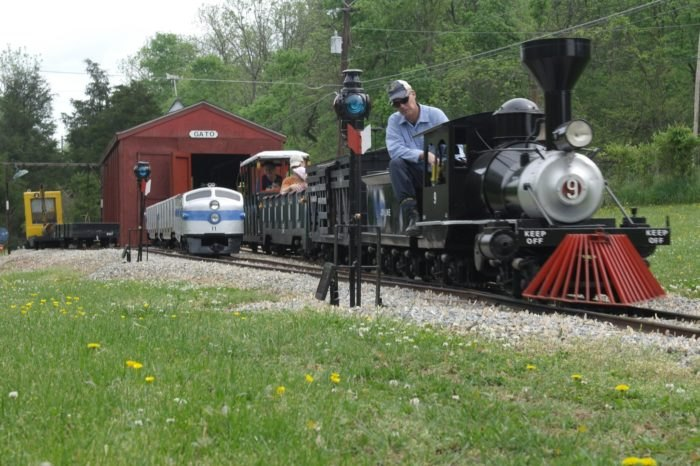 A Ride On The Miniature Joy Line Railroad In West Virginia