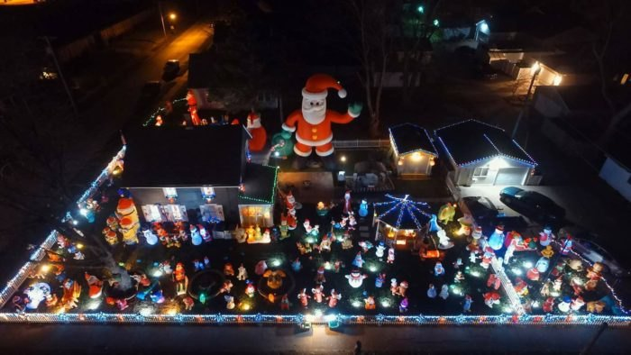 Henry's Christmas Yard In Moline, Illinois Is The Best