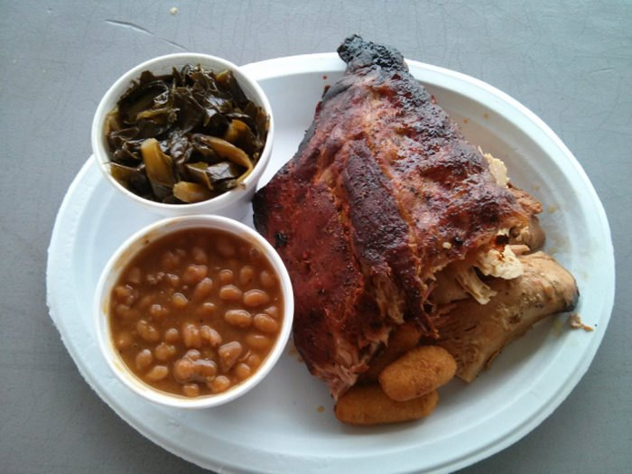The Food At The BBQ Barn In North Augusta, South Carolina ...