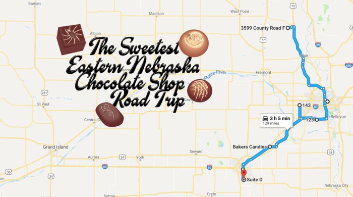 Road Trip To 8 Of The Best Chocolate Shops In Neska Make Your Own Road Trip Map on make your own disney world map, make your own pirate treasure map, chicken road map, art road map, make your own school map, recipe road map, healthy road map, vintage road map, graduation road map, photography road map, your own driving route map, diy road map, lego road map, make your own weather map, make your own route map, christmas road map, make your own walking map, make your own snow map, travel road map, organic road map,