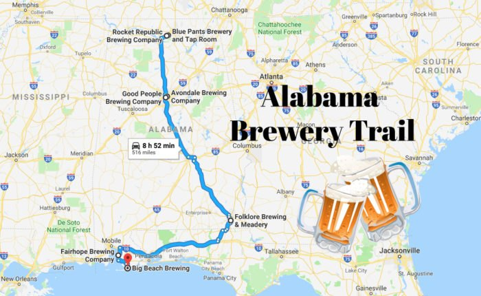 This Trail Takes You To The Best Breweries In Alabama