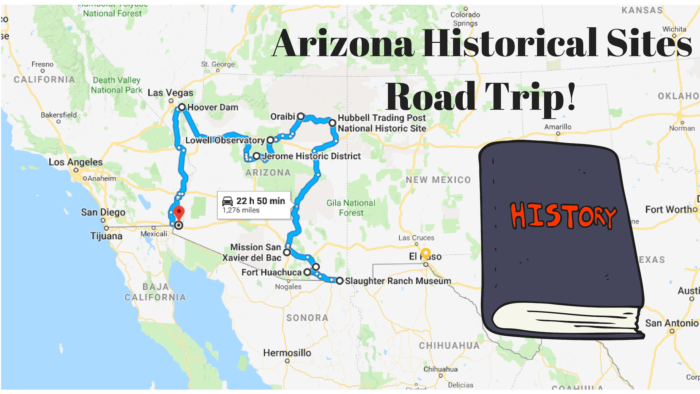 Map Of Arizona Including Jerome.Road Trip To 10 Of Arizona S Best Historical Sites