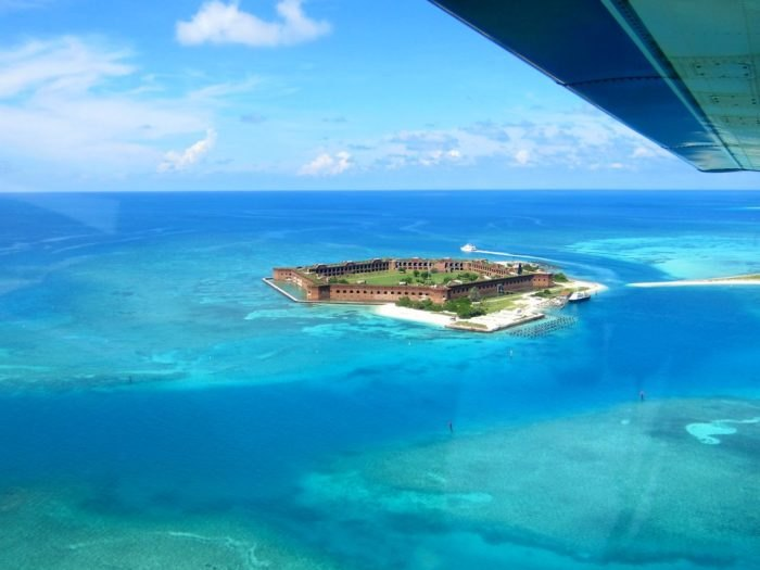 Dry Tortugas In Florida Has Clear Water