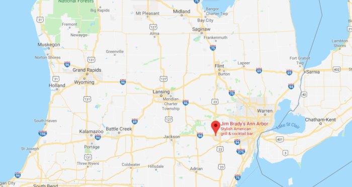 Jim dy's Is The Best Three-Story Restaurant In Michigan Google Maps Ann Arbor on big bear lake map google, waco map google, new haven map google, san luis obispo map google, bakersfield map google, downtown detroit map google, baton rouge map google, coeur d'alene map google, knoxville map google, honolulu map google, port huron map google, killeen map google, shreveport map google, tulsa map google, state college pa map google, jacksonville map google, pasadena map google, lexington map google, beaverton map google, oakland map google,