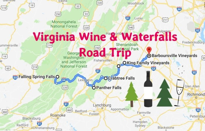 Road Trip To Virginia's Best Wineries And Waterfalls Machusetts Winery Map on
