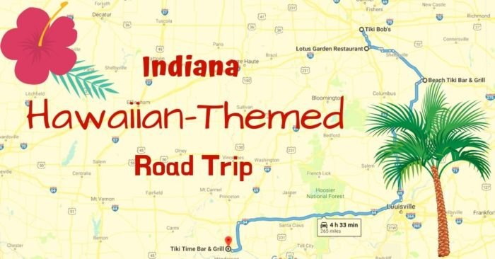 Hawaiian-Themed Road Trip In Indiana To The Best Tiki Bars on indiana flood map, indianapolis google, indiana map with exit numbers,