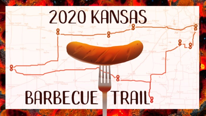 barbecue trail across kansas map