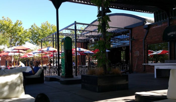 outdoor patio of pumphouse