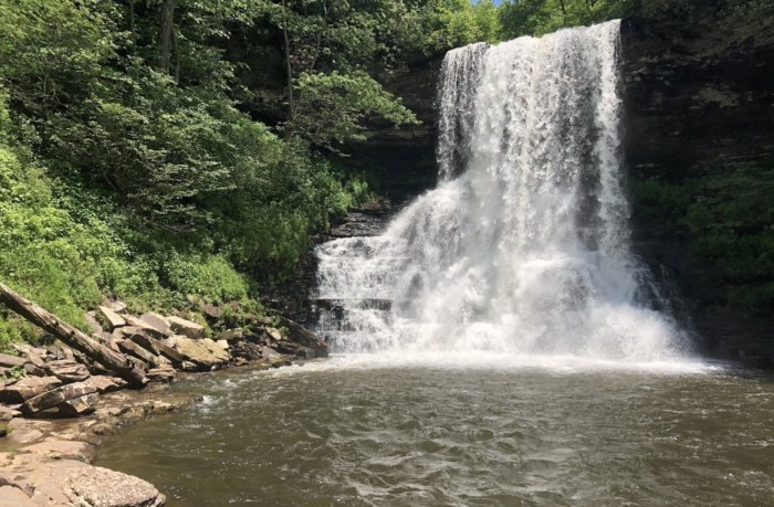 Cascades Falls Is A Beautiful Waterfall Swimming Hole In Virginia
