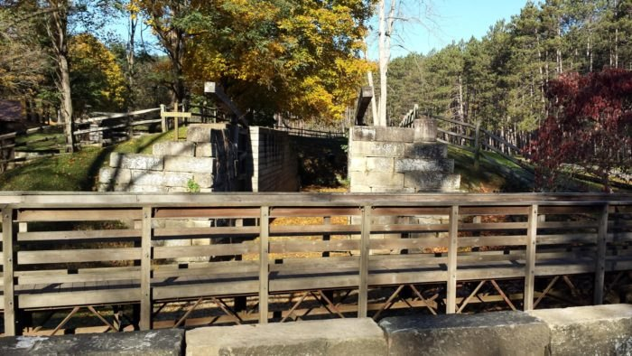 Historical Canal Locks at Beaver Creek State Park in Ohio