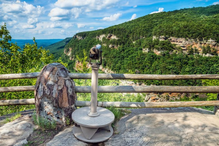 Cloudland Canyon State Park scenic overlook in Georgia
