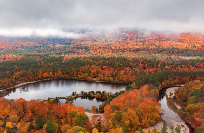 The Sight Of Fall Foliage In Maine From Up Above Is Unbeatable On This Scenic Chair Lift Ride