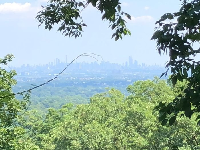 View of New York City from Kip's Castle New Jersey