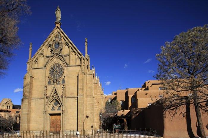 Loretto Chapel Facade New Mexico