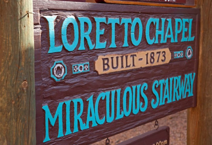 Loretto Chapel Sign Santa Fe New Mexico