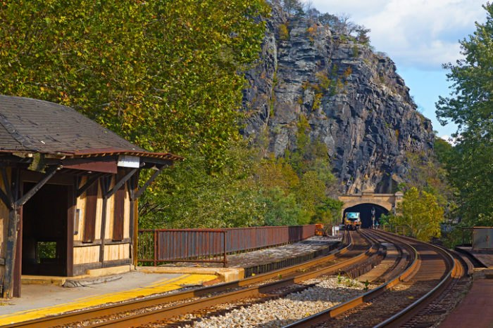 Harpers Ferry Train Station West Virginia