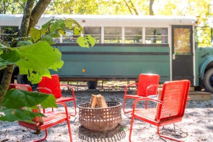 Retro School Bus Emerald Gypsy Arkansas
