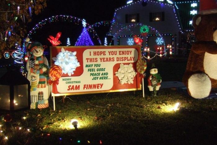 Finney's Christmas Wonderland Sign Arkansas