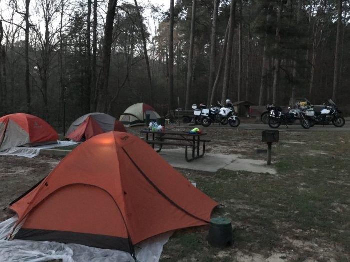 White Oak Lake State Park Campsite Arkansas