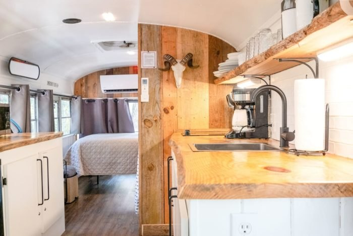 Retro School Bus Kitchen Arkansas