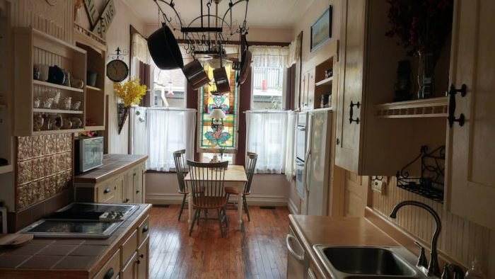 Savoy Depot Airbnb Kitchen Illinois