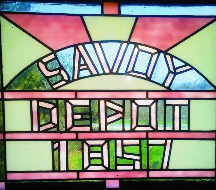 Savoy Depot Airbnb Stained Glass Illinois