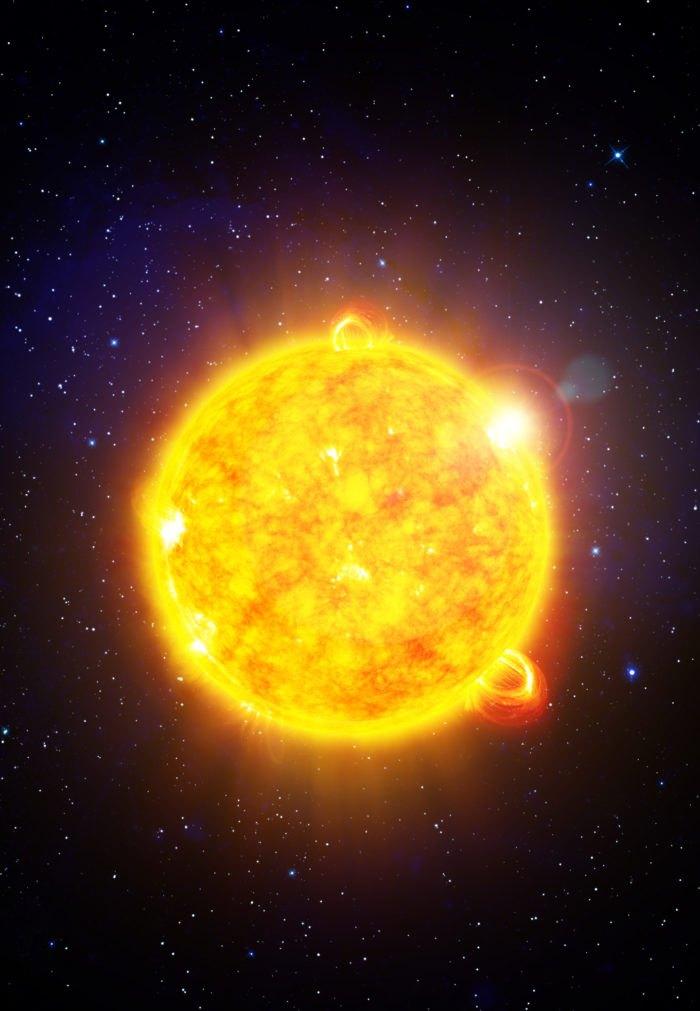 Sun With Solar Flares