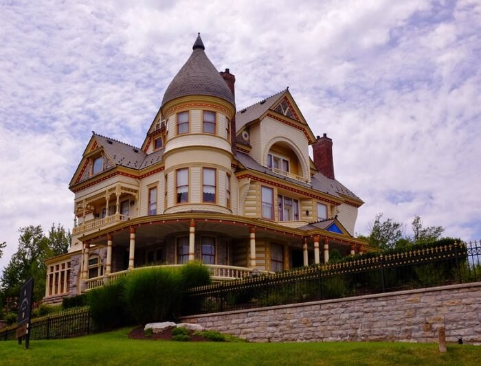 Victorian mansion in Eureka Springs, Arkansas