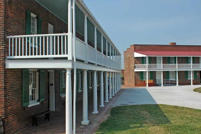 the barracks at Fort McHenry in Baltimore, MD