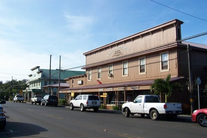 downtown Hawi, Hawaii