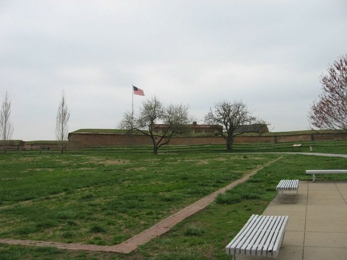outside Fort McHenry in Baltimore, MD