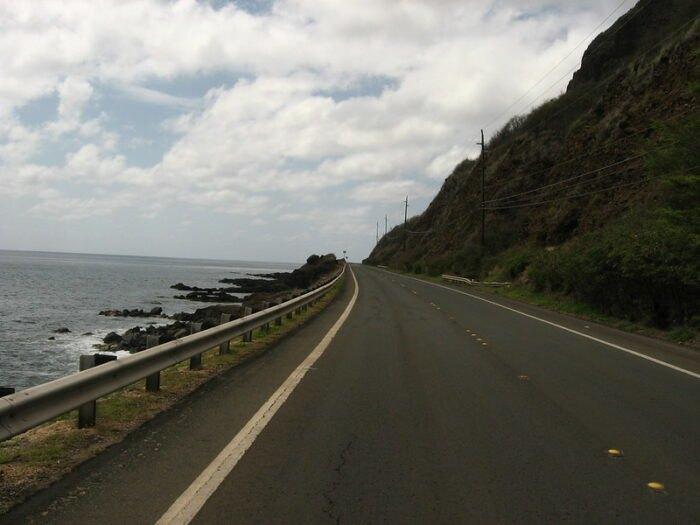 highway running along the Leeward Coast in Hawaii